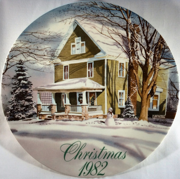 Smucker's Collector's Plate Commemorative Plate- Christmas 1982