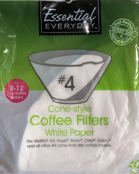 Cone-Style Coffee Filters #4 - White Paper