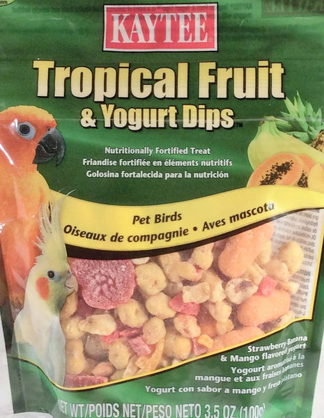Kaytee Tropical Fruit & Yogurt Dips, Pet Birds