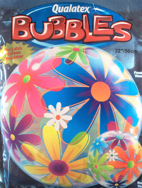Flowers Stretchy Plastic Balloon