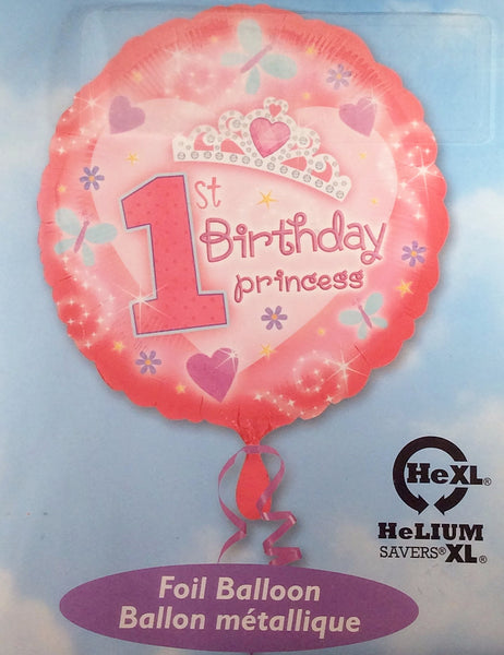 1st. Birthday Princess Foil Balloon