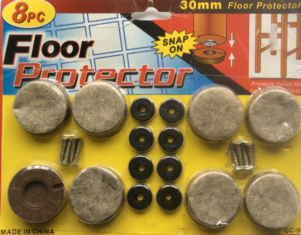 8 Piece Floor Protector, Snap On, 30mm Floor Protectors