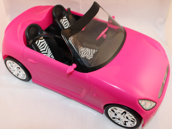 Mattel 2009 Barbie 13 Glam Convertible Pink Sports Car