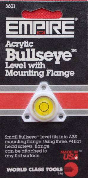 Empire Acrylic Bullseye level with Mounting Flange