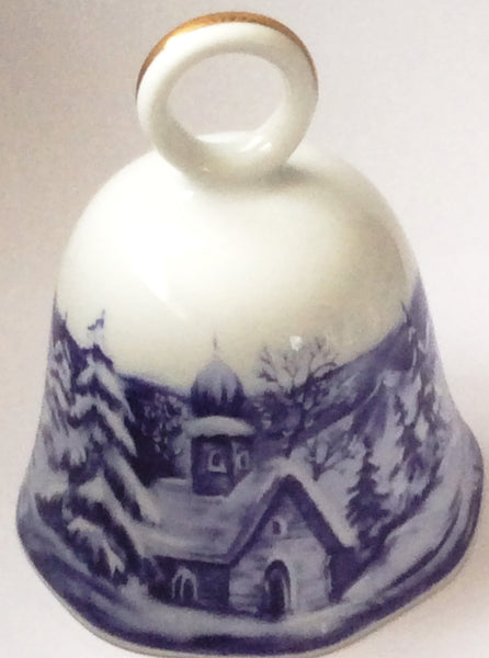Scherzer (West Germany) Porcelain Bell - Winter Wonderland Bell
