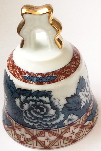 "Old Kyoto By Sudo Japan ""Bottan"" Porcelain Bell"