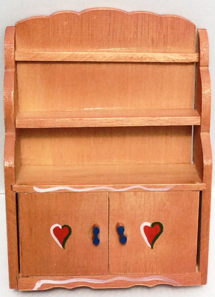 Miniature House Hand Painted Swiss Hutch