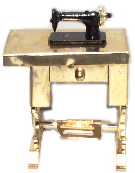 Miniature Gold Metal Sewing Machine
