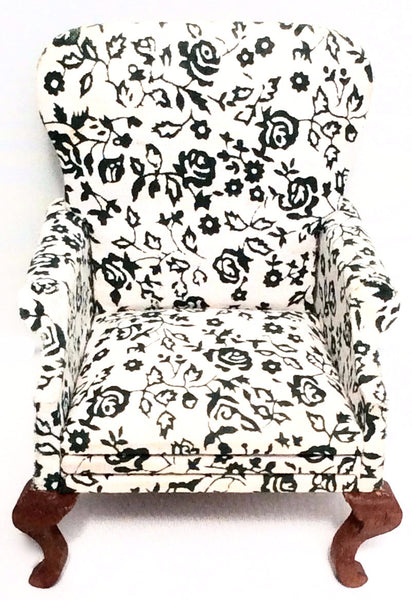 Miniature House - High Back Chair - Floral