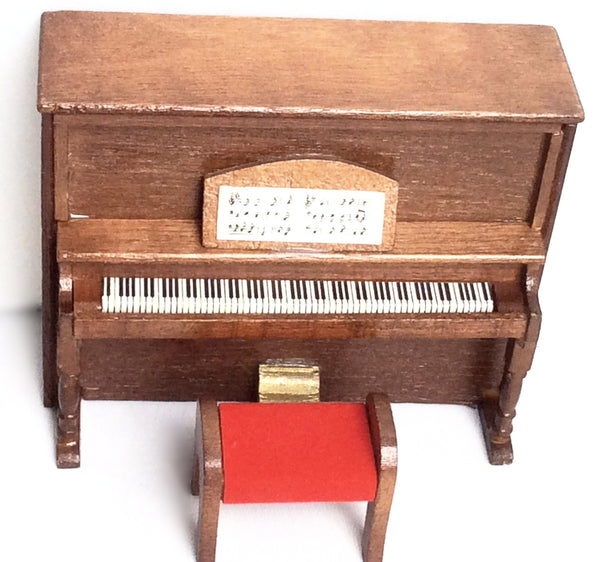 Miniature House - Upright Piano & Bench