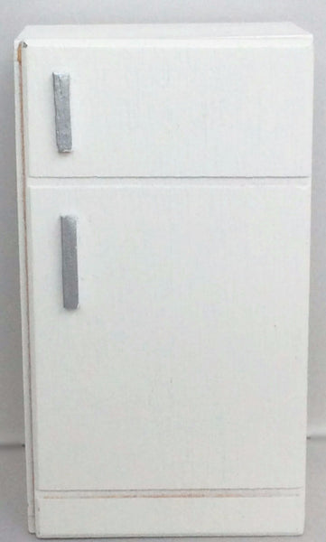 Miniature House - White Wooden Refrigerator