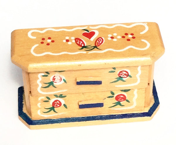 Miniature House - Hand painted Swiss Dresser