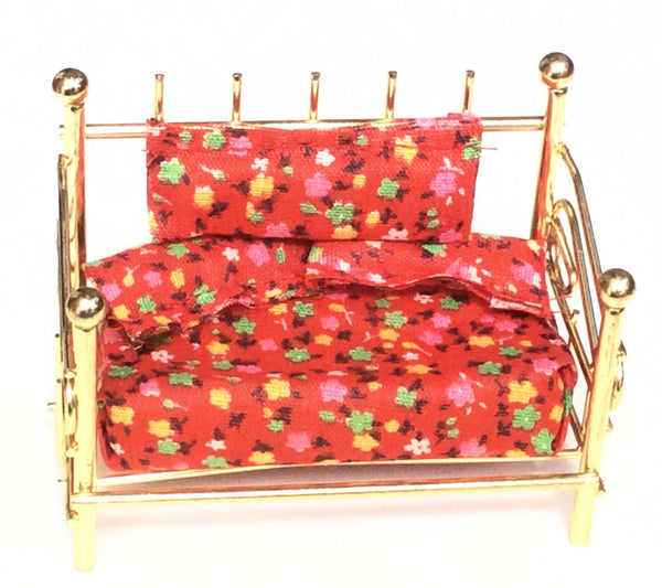 Miniature House - Antique Brass Bed