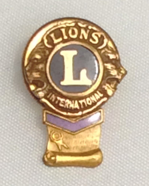 Lions International Lapel Pin with Single Chevron
