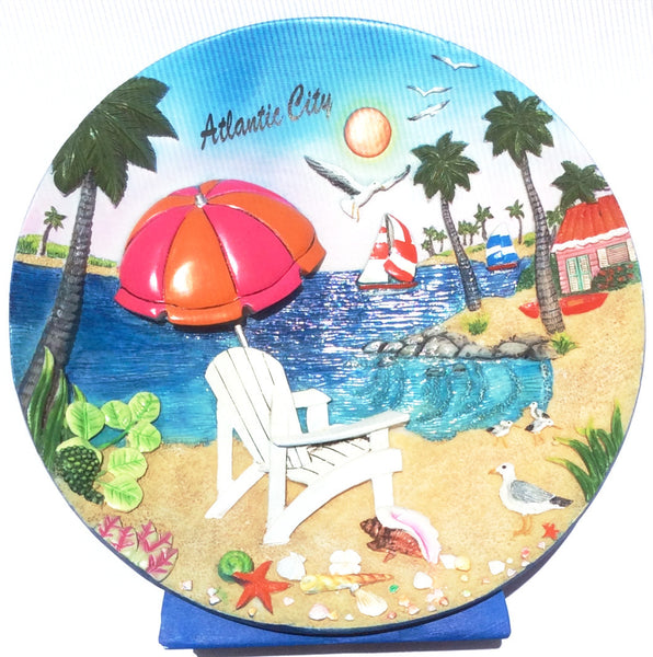 Atlantic City Souvenir Plate in 3D