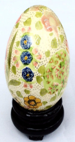 Hand Painted Decorative Egg - Asian