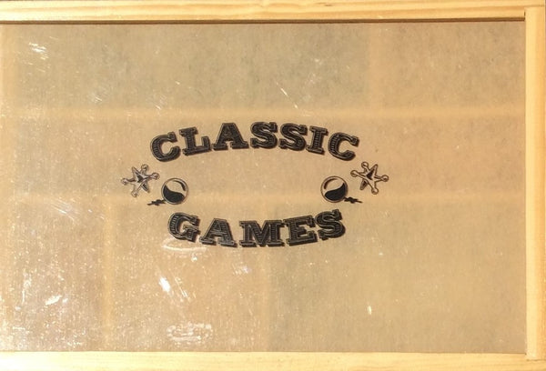 6 Classic Games In Wooden Case