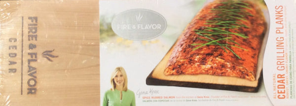 Fire & Flavor All Natural Cedar Grilling Planks