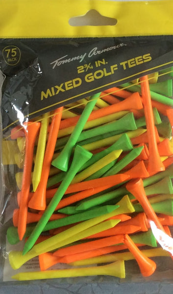 "Tommy Armour 2 3/4"" Mixed Colors Hardwood Golf Tees 75 Count"