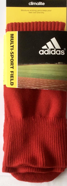Adidas Multi-Sport Climalite Field Socks, Small Red