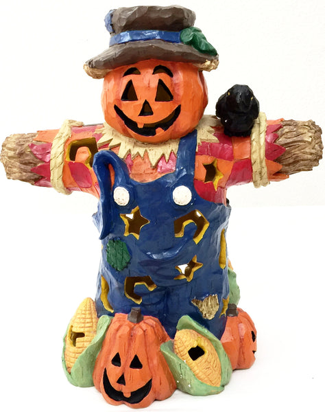 "Primitive Halloween Scarecrow 17"" Tall Decoration"