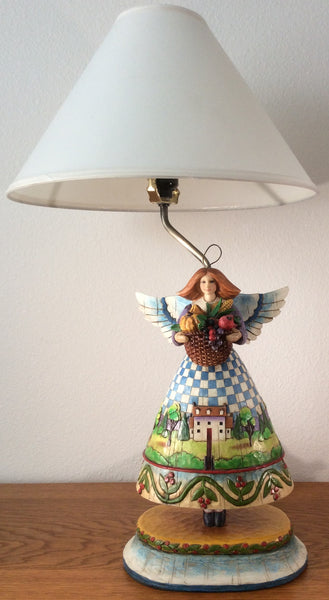 Jim Shore 2004 Heartwood Creek Angel Lamp #118638L