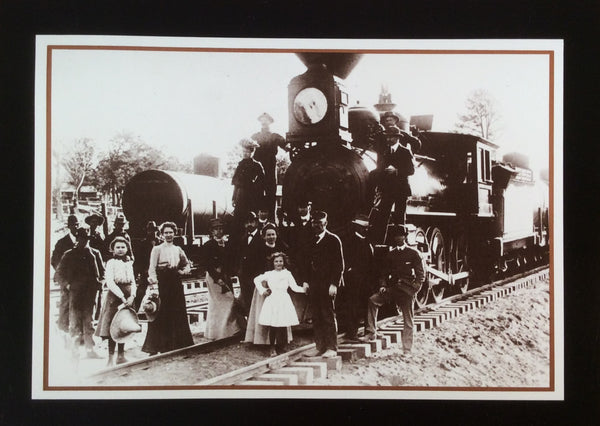 First Train To Grand Canyon 1901 Postcard