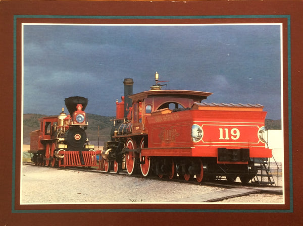 The Jupiter & #119 At Promontory Point, Utah Postcard