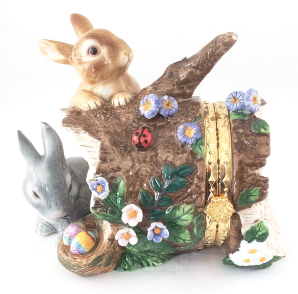 CWC Porcelain Easter Bunny Hinged Trinket Box