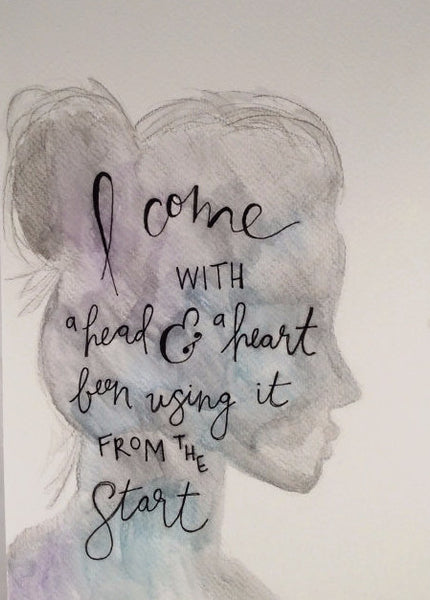 "Inspirational Quote ""I Come"", Hand Painted by Casai Prints"