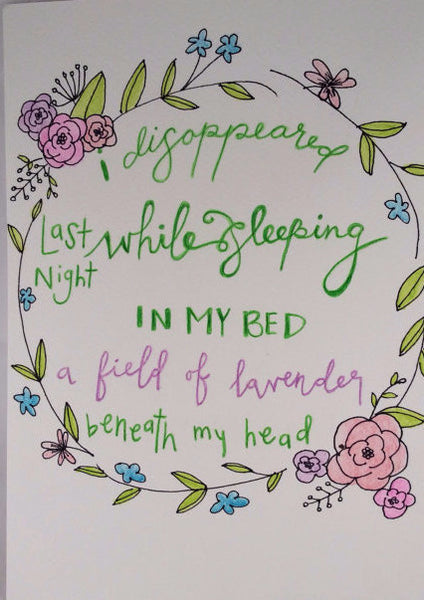 "Inspirational Quote ""I Disappeared"", Hand Painted by Casai Prints"