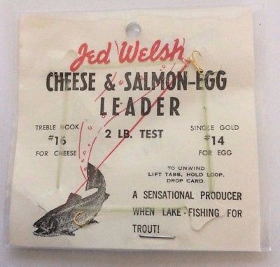 Jed Welsh Cheese & Salmon Egg Leader, 2 Lb. Test