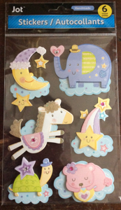 Jot Stickers Scrapbooking Stickers Handmade Pack of 6