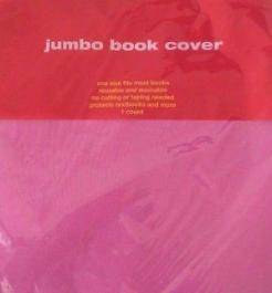 Jumbo Book Cover, Strechable Fabric, Hot Pink - NEW