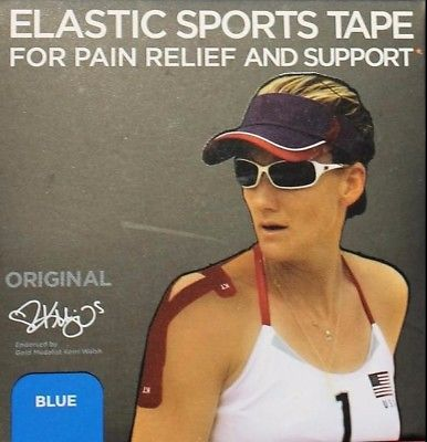 "KT Tape Kinesiology Therapeutic Tape, Blue, 1 Set of 20 Strips 10"" Pre-cut"