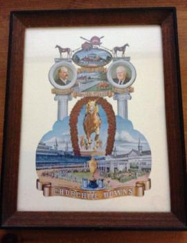 Vintage 1974, Churchill Downs Coat-Of-Arms, Kentucky Derby Framed Poster