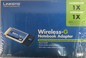 Linksys Wireless-G Notebook Adapter, No. WPC54G