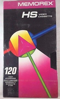 Memorex HS Video Cassette 120 High Standard