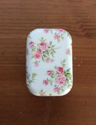 Mini Tin Pill Flower Case Purse Organizer