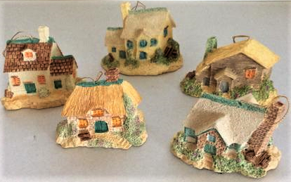 Miniature Holiday Village Cottage Ornament