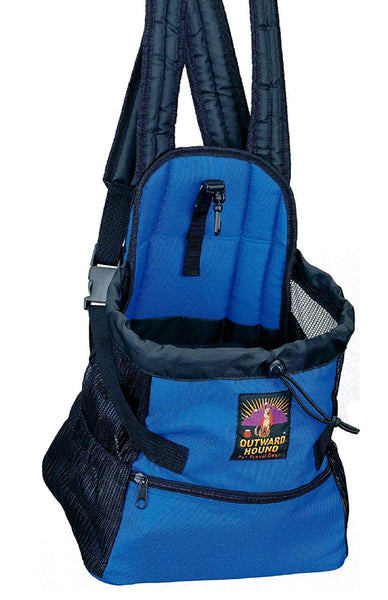 Outward Hound Pouch Front Carrier With Interior Harness Clip Royal Blue