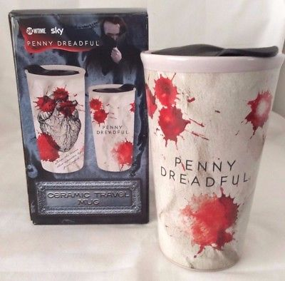 Penny Dreadful Ceramic Travel Mug 2017, Travel Mug - Heart, Horror Collectible