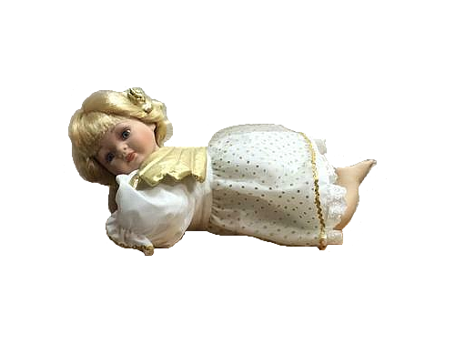 Porcelain Angel Doll 14 Inches