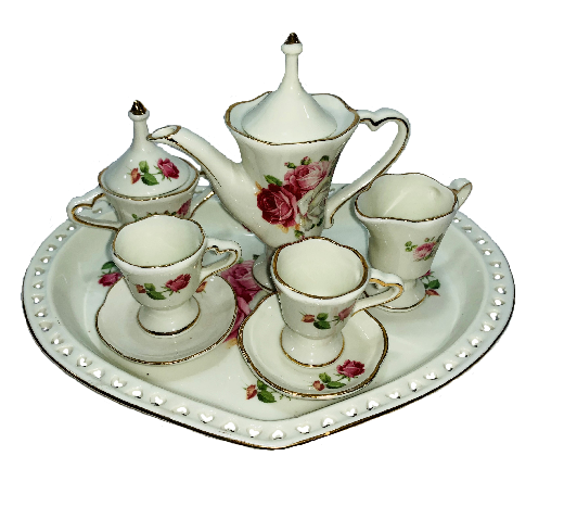 Porcelain Tea Set - 10 Piece