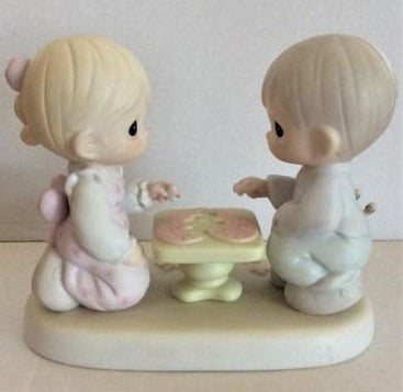 "Precious Moments ""Let's Put the Pieces together"" Figurine 1997"