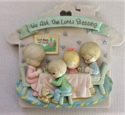 "Precious Moments ""We Ask The Lords Blessing"" Wall Plaque"