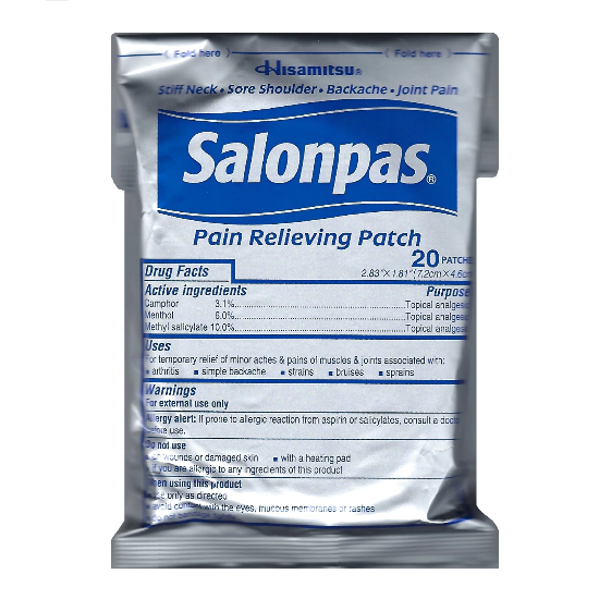 Salonpas Pain Relieving Patches Pack of 20