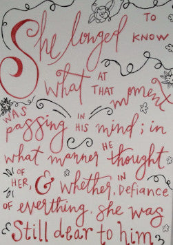 "Inspirational Quote ""She Longed To Know"", Hand Painted by Casai Prints"