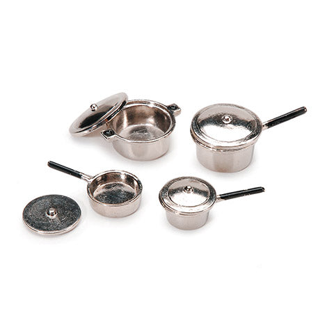 Miniature - Silver Stovetop Cookware Set 8 Pieces