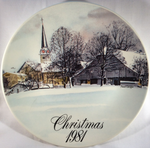 Smucker's 10th. Anniversary Collector Plate - Christmas 1981